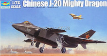 Freeshipping  TRUMPETER 01663 CHINESE J-20 MIGHTY DRAGON  Assembly Model kits  Modle building scale