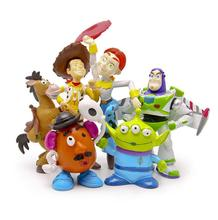 BOHS Toy Story 3 Sheriff Woody Pride Jessie Mr. Potato Head Bullseye Squeeze Toy Aliens Mini Action Figures Toys(China)