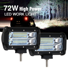 CO LIGHT LED Light Bar 6000K 72W 5 inch Spot Beam Led Work Light Driving Lamp for Camper Truck ATV SUV KAMAZ GAZ 12V 24V(China)