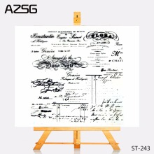 AZSG Transparent Clear Stamps Art Font Blessing Language Seal for DIY Scrapbooking Photo Album Card Making DIY Decoration Supply(China)