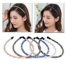 New Fashion Full Shiny Crystals Hairband Head Hoop Charming Colorful Hair Bands for Women Girl Hair Accessories Headwear