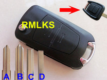 RMLKS Folding Flip 2 Button Remote Key Fob Case Fit For Vauxhall Opel Astra Vectra Zafira Wirh HU46/HU100/Right/Left Blade(China)