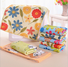 RN343 10pcs/lot Microfiber absorbent towel 25 * 50cm Printing child hand&face towel gift promotion wholesale