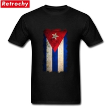 Ruin Vintage Grunge Cuba Flag T-shirts Men's Short Sleeve Cotton Male Graphic T Shirt Cheap Custom Patriotic Clothing Big Size(China)