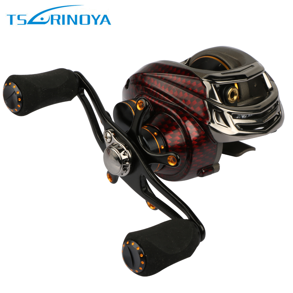 Trulinoya TS1200 13+1BB 6.3:1 Baitcasting Fishing Reels Black/Red Left/Right Handed Bait Casting Reel Free Shipping<br>