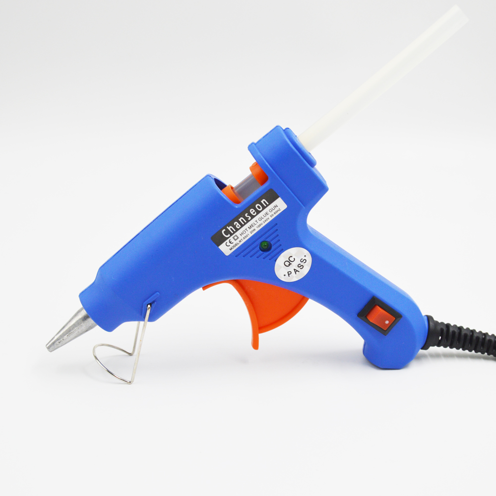Chanseon 3 Colors Available Hot Glue Gun 20W EU Plug Diameter 7mm with 1pc Free Stick Industrial Heater Heating Repair DIY Tools