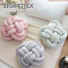 Vivid Knot Ball Cushion Office Waist Back Cushion Baby Nap Pillow Stuffed Dolls Toys For Kids Store Decoration(China)