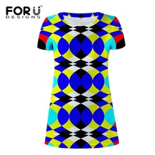 FORUDESIGNS Royal Blue Women Dress Mixed Color Stripe Pencil Dress Female Fashion Girls Summer Beach Casual Dress Slim Vestidos(China)