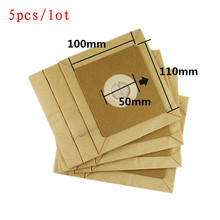 5pcs Vacuum cleaner dust paper bags 100*110mm Diameter 50mm,Vacuum cleaner parts for philips FC8334/FC8338/FC8349/FC8344 robot(China)