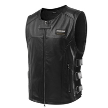 Scoyco JK62 Leather Safety Clothing Motorcycle Reflecting Racing protective Vest Visbility Moto Security Motorbike Wear Black(China)
