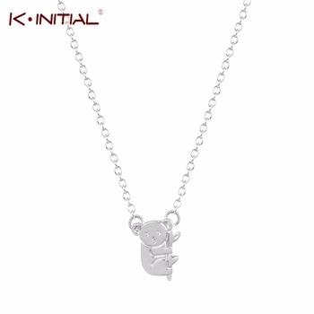 10Pcs Cute Koala Bear and Branch Shaped Animal Charm Pendant Necklace Handmade Animal Koala Bear Necklaces Jewelry for Gift