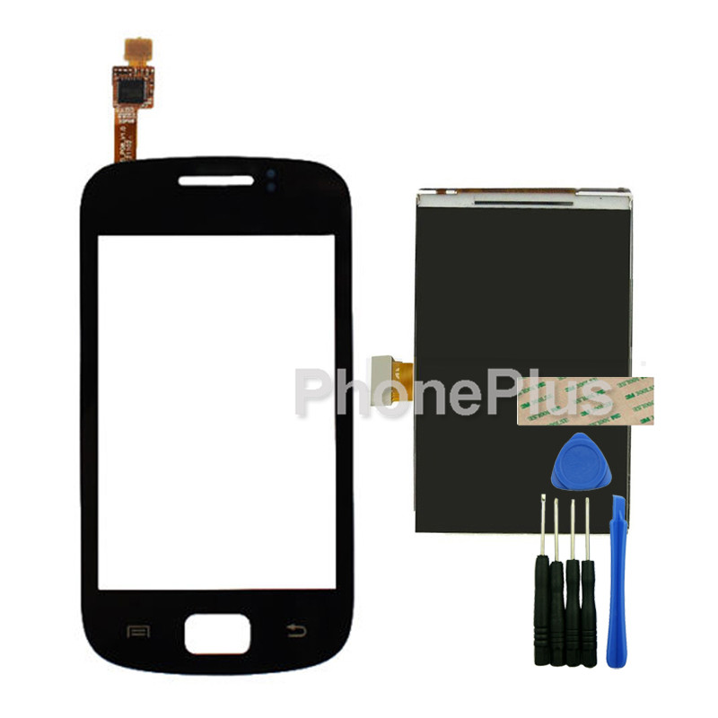 Touch Screen Glass Digitizer+LCD Screen Display Screen Adhesive Replacement Repair Part For Samsung Galaxy mini 2 S6500<br><br>Aliexpress