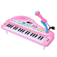 Musical KeyBoard Toy For Kids 37 Keys Piano With Microphone MP3 USB Play Digital Music Electronic Piano Toys For Children(China)