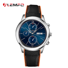 New Lemfo Lem5 android 5.1 OS smart watch phone MTK6580 1GB RAM + 8GB ROM support WIFI GPS heart rate APP download smartwatch(China)