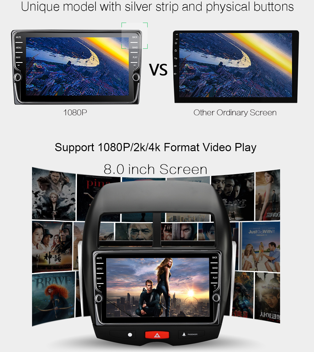 10.2 Android 6.0 Quad Core Car GPS Player for Mitsubishi ASX 2010 2011 2012 NO DVD with 1GB Stereo Radio Audio Head unit 4G