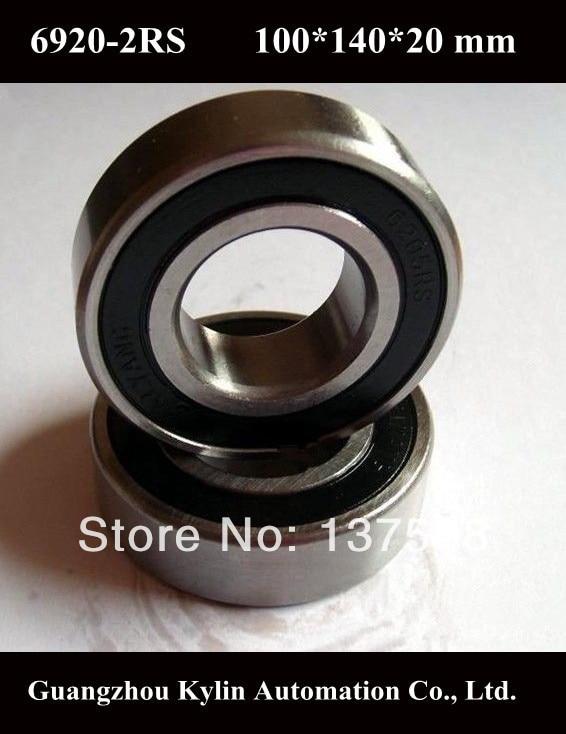 Best Price! 1 pcs 6920 2RS Deep groove ball bearing,bearing steel 100X140X20 mm<br>