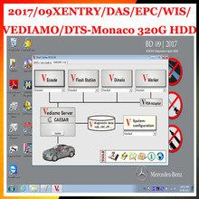 2017.09 MB STAR C4 full Software Included XENTRY/DAS/EPC/WIS/EWA/VEDIAMO/DTS-Monaco hard drive 320GB HDD SD C4 free shipping(China)