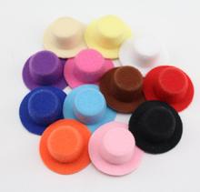 Cheap Price 50pcs/lot Solid Color Women Party Felt Mini Top Hat Base Hair Fascinator Hat Base. DIY Mini hat 4cm wholesale