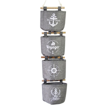 Hoomall Wall Hanging Storage Bags Organizer Navy Linen Closet Hanging Storage Bag 20x14cm 1Set(4PCs)(China)