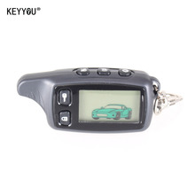 KEYYOU New For Tomahawk TW9010 LCD Remote Controller Two Way Car Alarm System Russian 9010 keychain Fob +silicone case With LOGO
