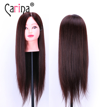 80% Human Hair Mannequin Head Hairdress Training head With Hair Styling Head For Salon Training Manikin Heads Hairstyling