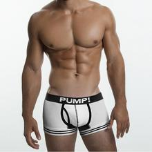 2 PACK PUMP! TOUCHDOWN CRUISE Leg Elastic Nylon mesh breathable body brand men underwear boxer sexy Gay Penis Crotch Cotton Cup