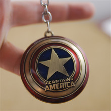The Avengers Captain America Figure Shield Zinc Alloy Keychain Pendant Toys 10pcs/lot