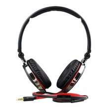 3.5mm Headband Foldable Wired Headphone w/ Mic For Cell Phone PC Earphone