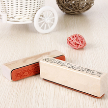 1PC The Best Price Beautiful Design Wooden Rubber Flower Lace Stamp Floral Seal Scrapbook Handwrite Wedding Craft For Decoration