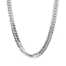Hot Sale Fashion Silver Stainless Steel Men's Thick Chain Necklace Link 8mm Snake Cuban Curb Chain Necklace(China)