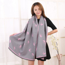 High quality fashion swallows cashmere scarf sided imitation cashmere shawls new women's scarves 190 * 65 cm