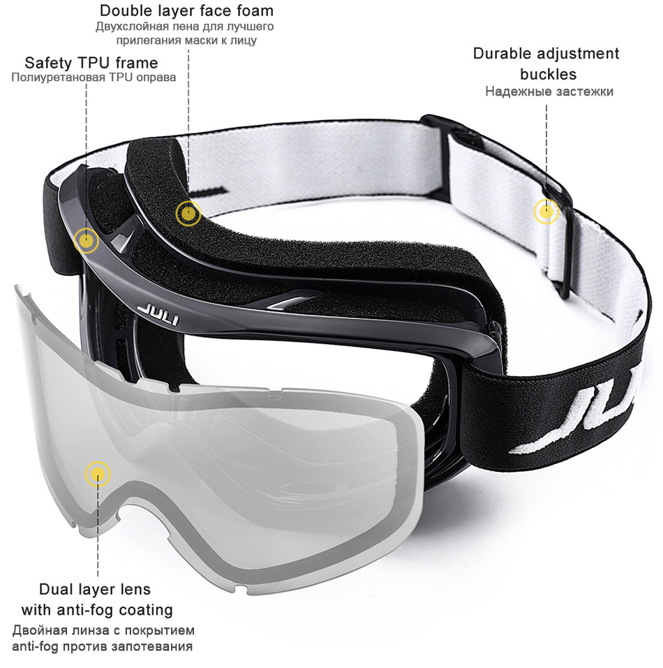 snowmobile goggles over glasses