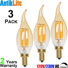 20/30/40 Watt 20W/30W/40W Incandescent Equal 120-Volt 110 Volts CA11 C35 Retro Dimmable LED Filament Bulb E12 2W 4W 6W 2/4/6/W