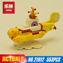 Free shipping 553Pcs 21012  Lepin The beatles yellow submarine Building Blcoks Bricks Toys 21306 Funny gift to children