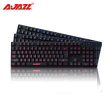 Ajazz Warrior machinery Wired High-grade Membrane 103 keys 3 Kinds Of Lights Adjustable Metal Floor Ergonomic Gaming Keyboard(China)