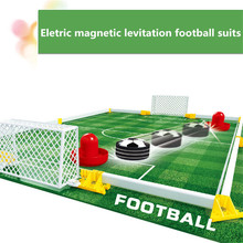 Eletric magnetic levitation football suits Toys Air Power Soccer Gliding Floating Football Table Game Indoor Toy Kids Gift#N