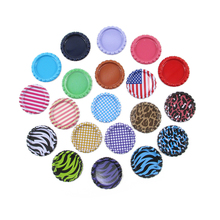 David Accessories 25mm Round Colored Flattened Bottle Caps Flat Bottlecaps For DIY Crafts Hair Bows Necklace Jewelry,100Y12897