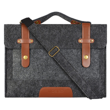 Mosiso  for Macbook HP ACER ASUS DELL LENOVO 11.6 12 13.3 15.6 inch Men Strap Compute Tablet Felt Shoulder Bag Case