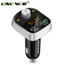 Onever Bluetooth FM Transmitter Quick Charger 3.0 Car MP3 Audio Music Player Dual USB Radio Modulator Car Kit HandsFree FLAC/APE(China)