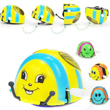 2017 New Baby Kids Wind up Toys Funny Colorful Cute Beetle Ladybug Thumbing Somersault Running Clockwork Spring Toy Random(China)