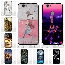 "For Huawei Nova Case Luxury Back Cover for Huawei nova 5.0"" Relief Printing Soft Silicone Coque for Huawei NOVA Capa Fundas"