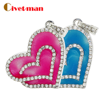 Hot sale Fashion U Disk Jewelry Heart shape USB Flash Drive 4GB 8GB 16GB 32GB 64GB USB 2.0 Flash Memory Stick Drive disk on key