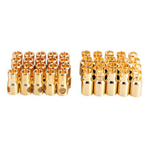 20 Pairs/lot Brushless Motor Banana Plug 6.0mm 6mm Golden Bullet Connector Plated for ESC Battery RC Helicopter Parts