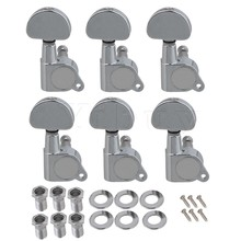 Yibuy 6 x Zinc Alloy Full Closed Machine Heads Tuning Pegs  Tuners Keys 6R