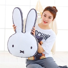 wholesale Cartoon rabbit feather cushion Cute cartoon pillow Anime toy baby kids sleep appease doll birthday/Xmas gift(China)