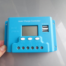 New type 20A 12V 24V intelligence Solar cells Panel Battery Charge Controller Regulators LCD 5V USB voltage adjustable