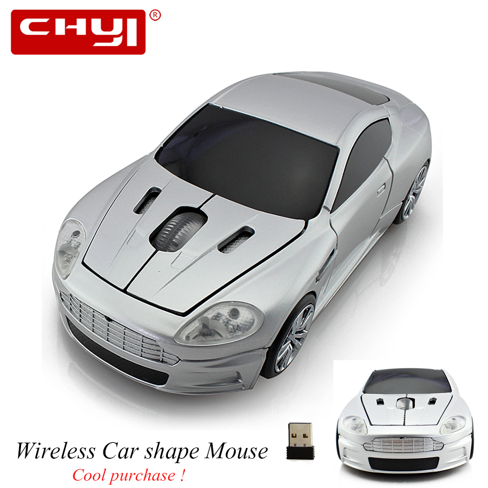 CHYI Wireless Mouse 2.4G Sports Car Optical Computer Mouse+ USB Receiver 1600DPI for PC Laptop Plug and Play Promotion Gift Mice(China)