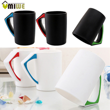 Creative 45 Degree Inverted Dustproof Cup Couple Bevel Green Wheat Mug Milk Coffee Bottle Brush Rinsing 350ml Cups And Mugs