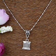 5PCS Antique Silver No 10 Silk Cord Charm Pendant Statement Bamboo Chain Short Clavicle Necklace Personality Gift Steampunk G600(China)