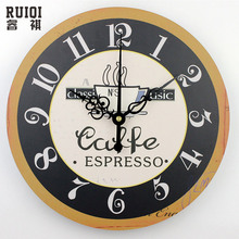 Fashion coffee wall clocks absolutely silent wall clock home decor unique kitchen wall clock modern design fashion wall watch(China)